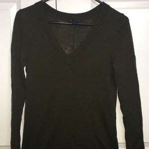 Olive Green 100% Wool Gap Sweater Size S